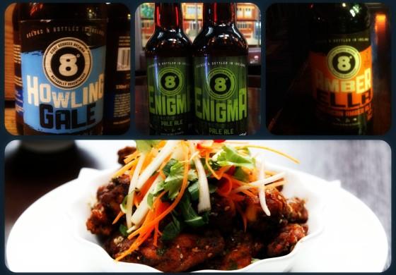 8 Degrees beers & wings