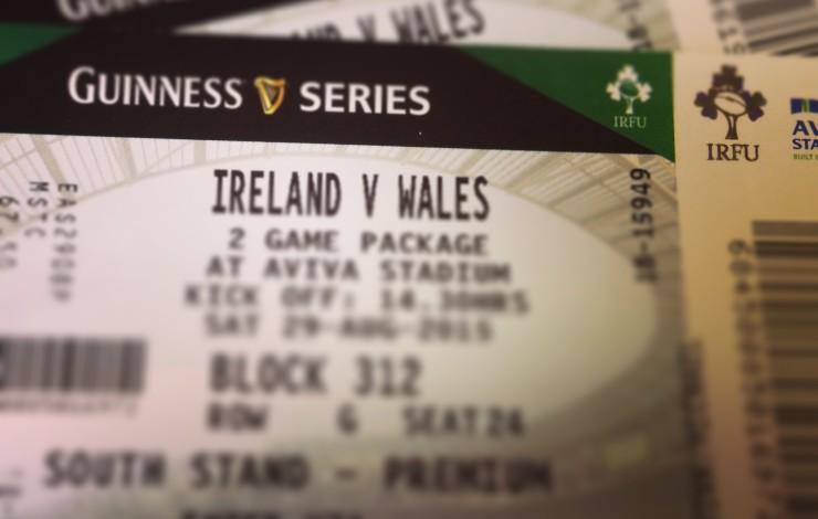 Ireland v Wales in the Aviva